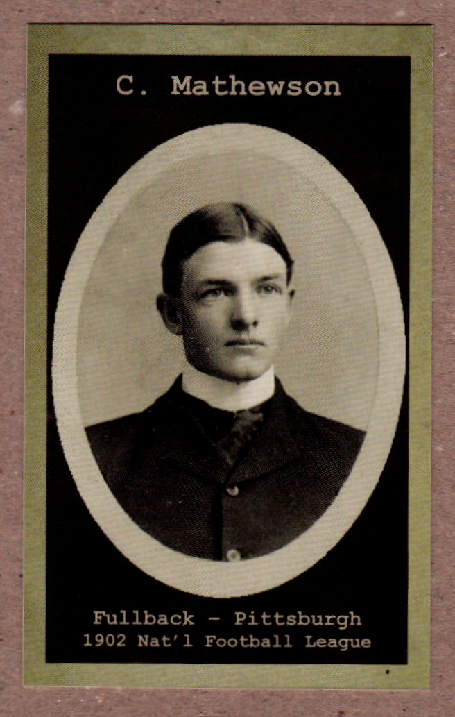 Christy Mathewson 1902 Pittsburgh Stars First Nfl Star